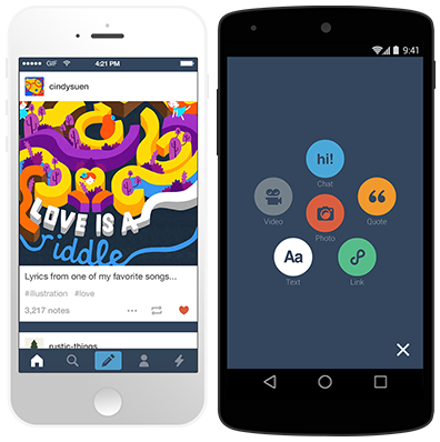 Tumblr increase mobile app engagement
